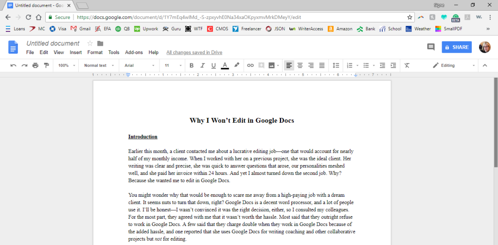 Google Docs screenshot.
