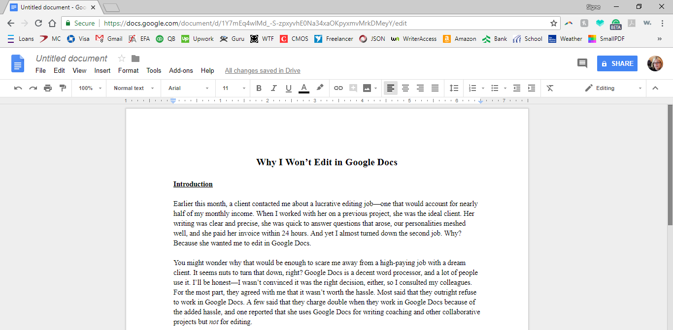 Why I Don U2019t Edit In Google Docs